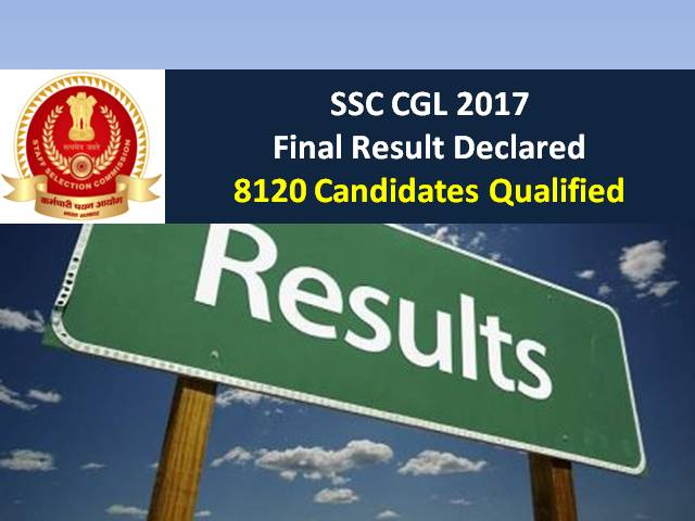 SSC CGL 2017 Final Result Declared @ssc.nic.in: 8120 Candidates Qualified