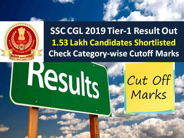 SSC CGL Marks 2020 Tier-1 Out @ssc.nic.in: Get Direct Link to Check Result, Question Paper, Answer Key & Cutoff Marks|Over 1.53 Lakh Candidates Shortlisted (Download PDF)