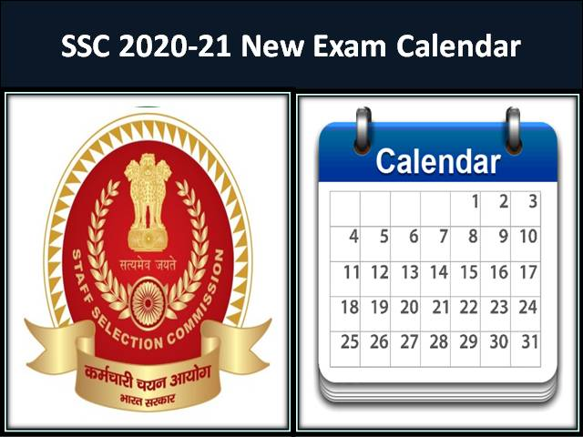 SSC 2020-21 New Exam Calendar