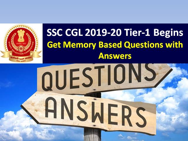 SSC CGL 2019-2020 Exam: Get Memory Based Questions with Answers of General Awareness/ Current Affairs/ GK/ English