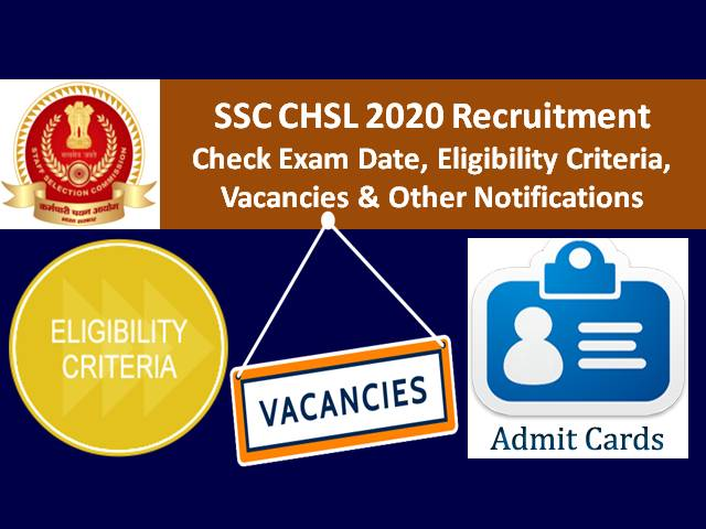 SSC CHSL 2020 Exam Update (Application Status Link Active Now): Tier-1 Exam from 12th Oct for Remaining Candidates|Check Admit Card Link, 4893 Vacancies, Eligibility & Other Notifications