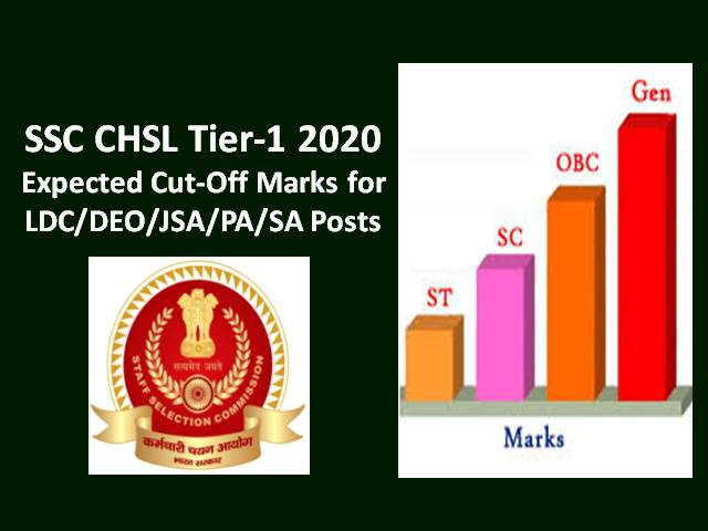 SSC CHSL Tier-1 2019-20 Answer Key Released (Tentative): Compare your Score with SSC CHSL 2019 Expected Cutoff Marks for LDC/DEO/JSA/PA/SA Posts along with Previous Cutoff Marks