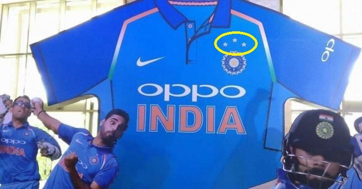 3 Star on Indian Cricket Jersey