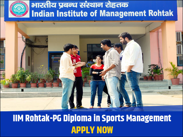 IIM Rohtak opens application for PGD in Sports Management, Apply now