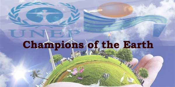 List of Champions of Earth Award Winners