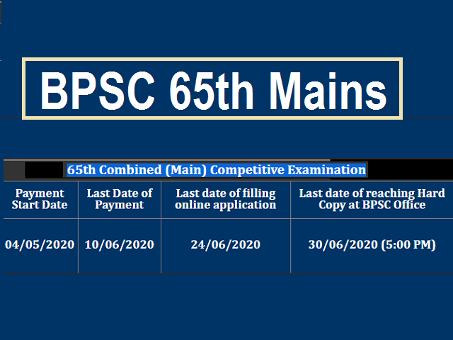 BPSC 65th Mains
