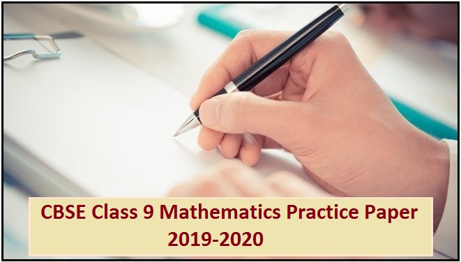 CBSE Class 9 Mathematics Solved Practice Paper 2019-2020