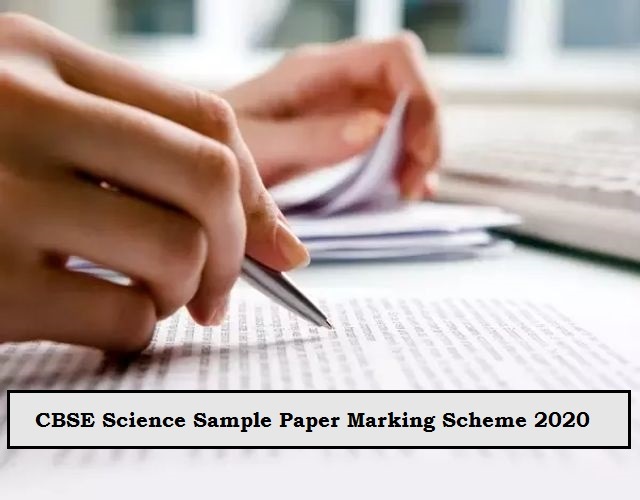 Cbse Class 10 Marking Scheme For Science Sample Paper 2020