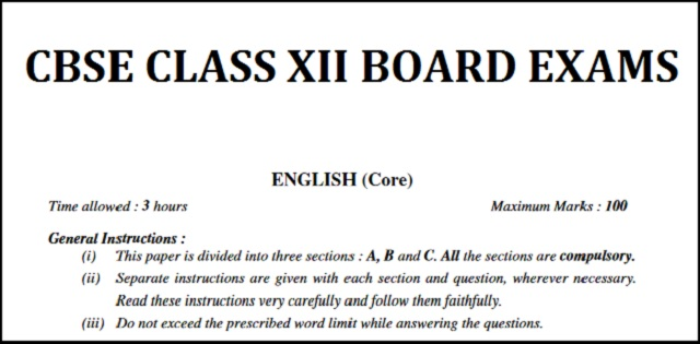 important topics for writing skill section of cbse class