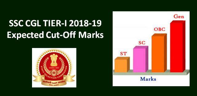SSC CGL Tier-I Expected Cut-Off Marks for 2018-19 Exam