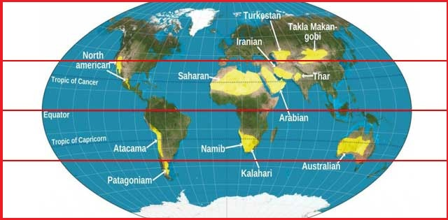 Why most of the world\'s tropical deserts located on the ...