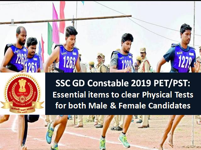 SSC GD Constable 2019 PET/PST: Essential items to clear Physical Tests