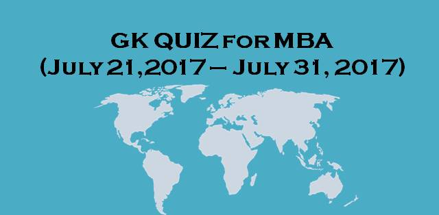 GK quiz for MBA