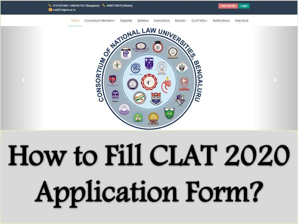 How to fill CLAT 2020 Application form?