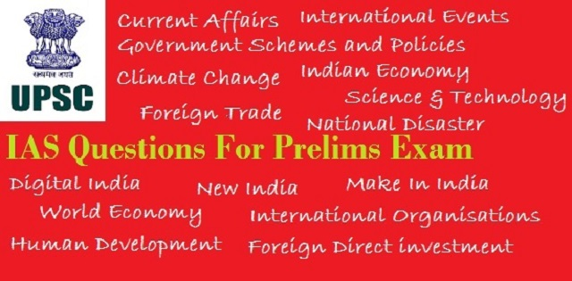 IAS Questions for Prelims 3 October 2017
