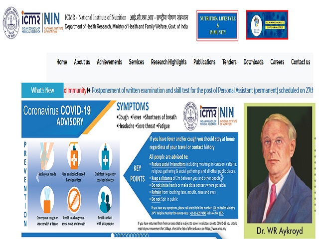 Icmr Nin Recruitment 2020 Walk In For Technical Assistant Post