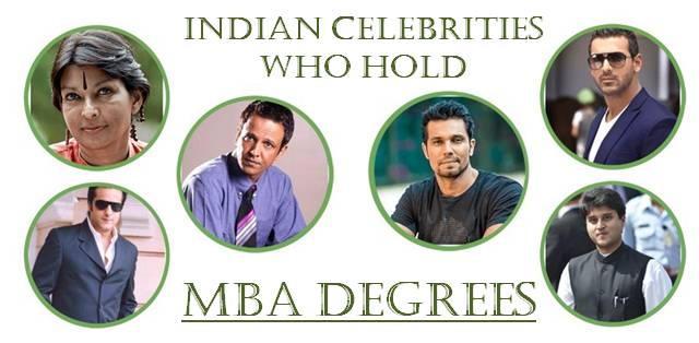 INDIAN CELEBRITIES WITH MBA DEGREE