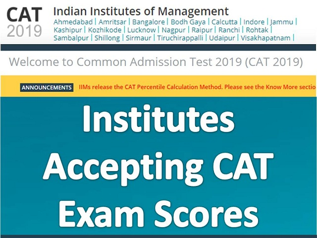 Top MBA colleges accepting CAT scores of 85 to 100 percentile