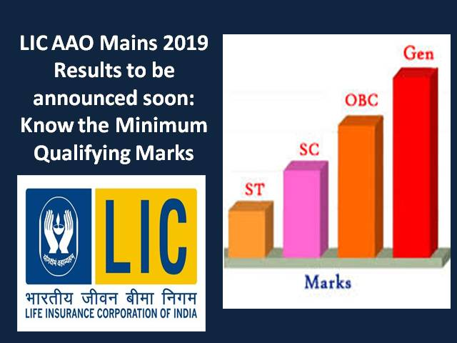 LIC AAO Mains 2019 Results to be announced soon: Know the Minimum Qualifying Marks