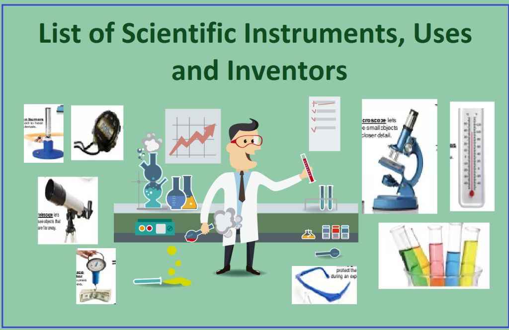 List of Scientific Instruments, Uses and Inventors