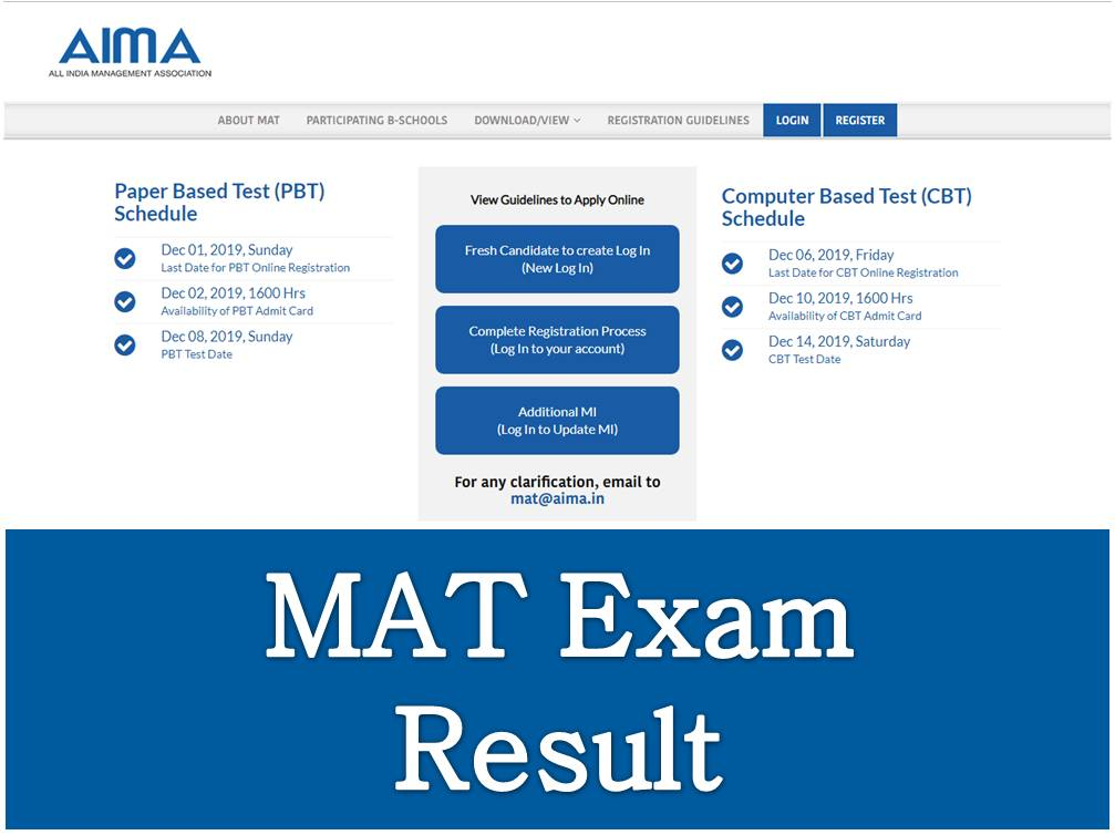 MAT Exam Result
