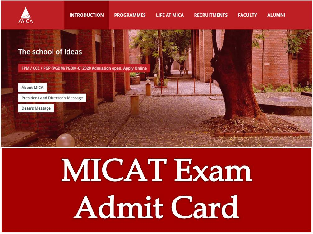MICAT Exam Admit Card