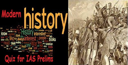 Modern History Quiz for IAS Exam Struggle for Swaraj
