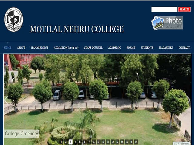 University of Delhi (DU) Guest Assistant Professor (Motilal Nehru College) posts 2019