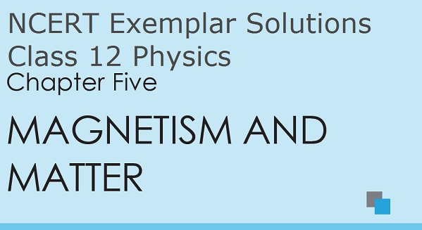 NCERT Exemplar Solutions for CBSE Class 12 Physics Chapter 5
