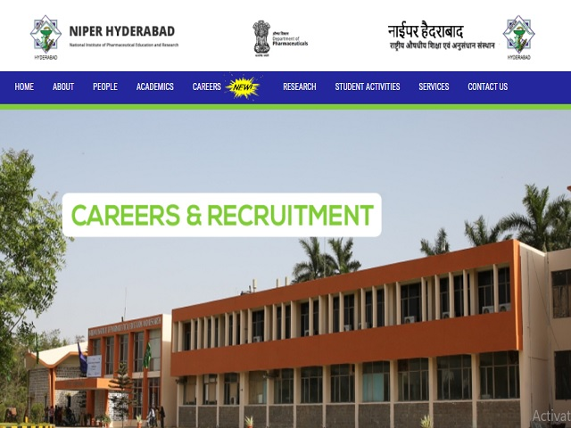 NIPER, Hyderabad Faculty Posts 2020