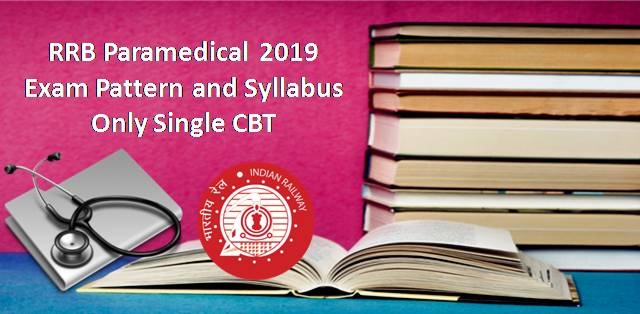 RRB Paramedical 2019: Exam Pattern & Syllabus (Only Single CBT)