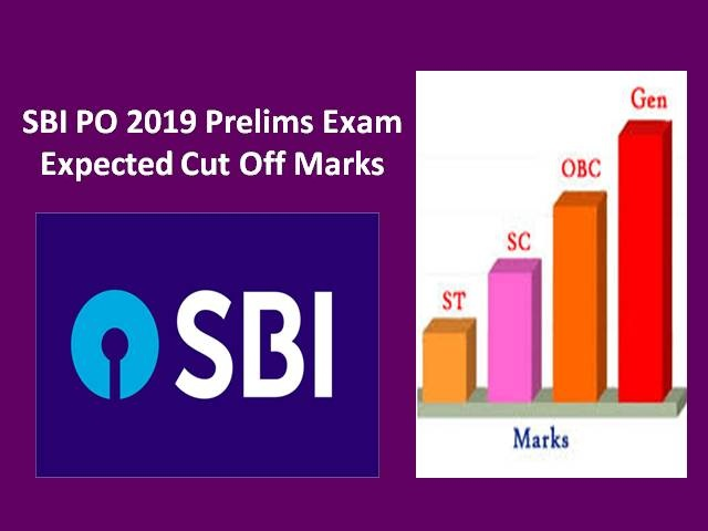 SBI PO Prelims Expected Cut Off Marks 2019