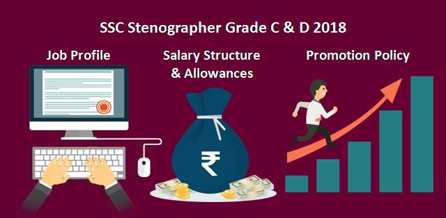 SSC Stenographer Grade C & D 2019: Job Profile, Salary Structure and Promotion Policy