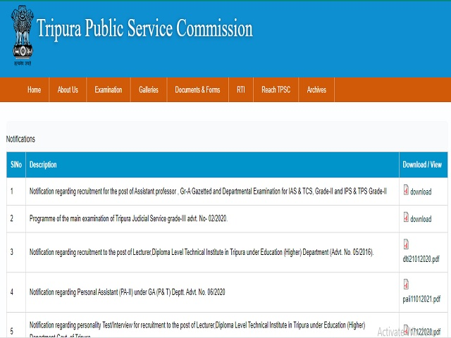 TPSC Recruitment 2018