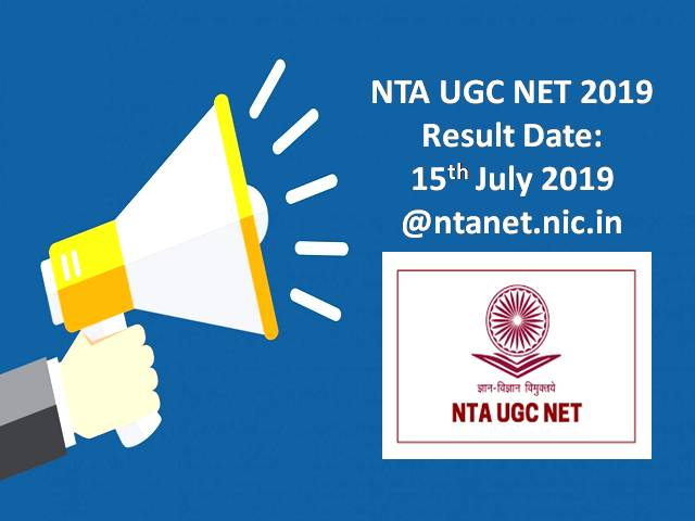 NTA UGC NET June 2019 Result Date