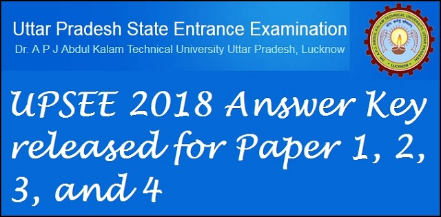 UPSEE Answer key 2018 released