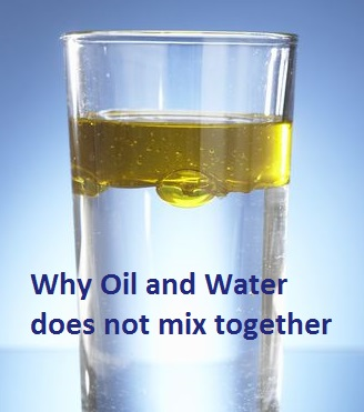 Why Oil And Water Does Not Mix Together