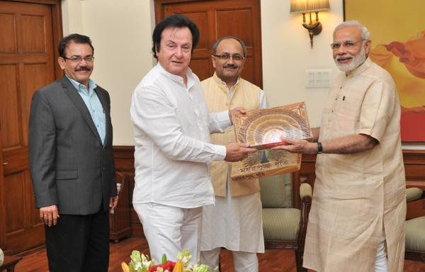 Anglo Indian MPs with Modi ji