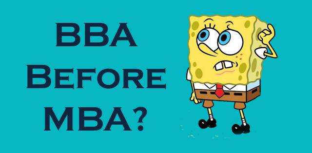 BBA before MBA