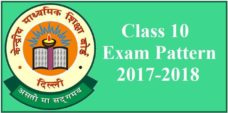 CBSE Class 10 Latest Exam Pattern