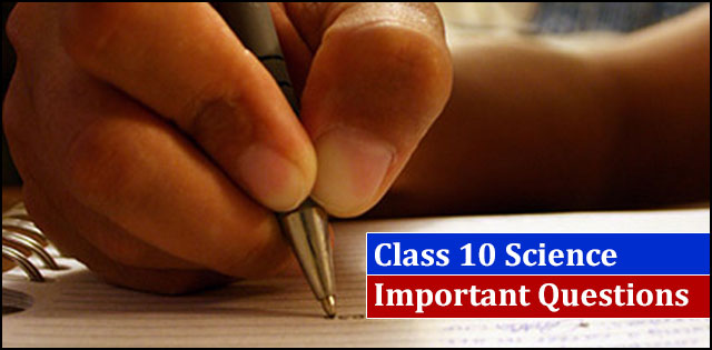 CBSE 10th Science Important Very Short Answer Type Questions for