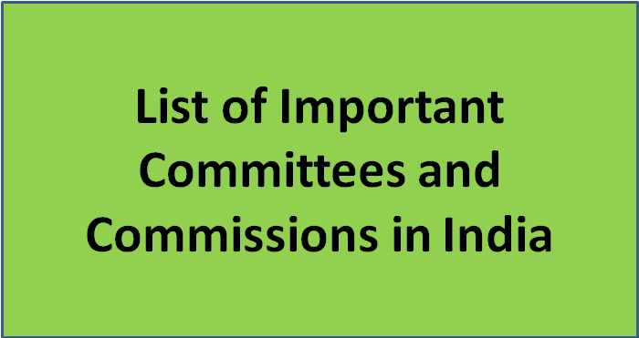 Different committees in india pdf