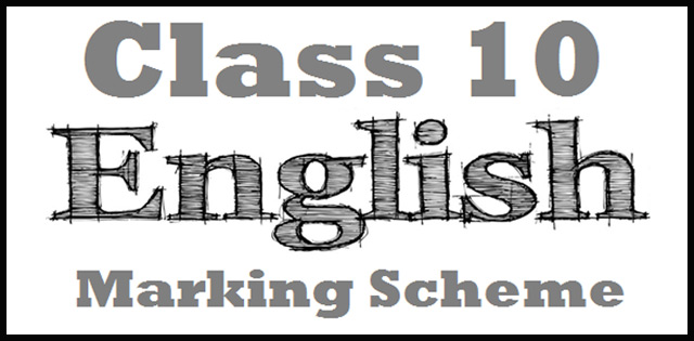CBSE Class 10 English (L & L) Marking Scheme Delhi Region