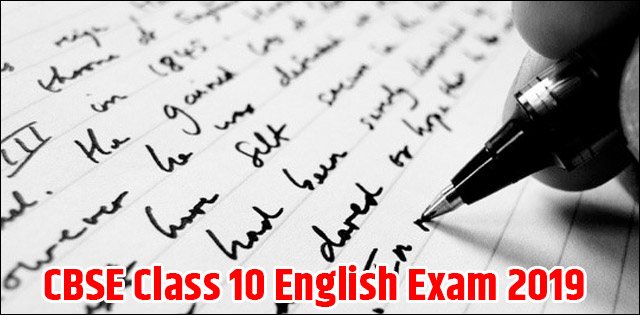 CBSE Class 10 English Exam 2019: Check correct letter