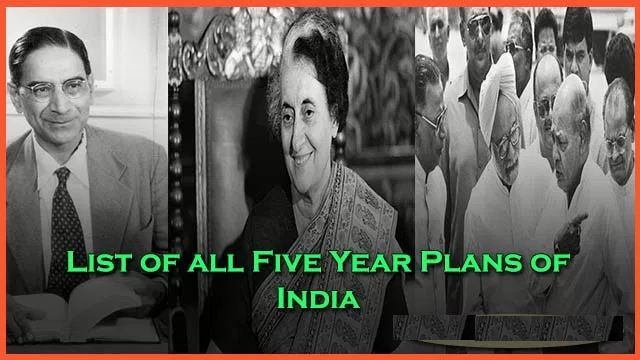 List of five year plans of India