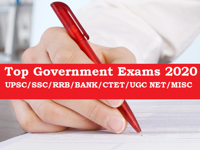 Top Government Exams 2020