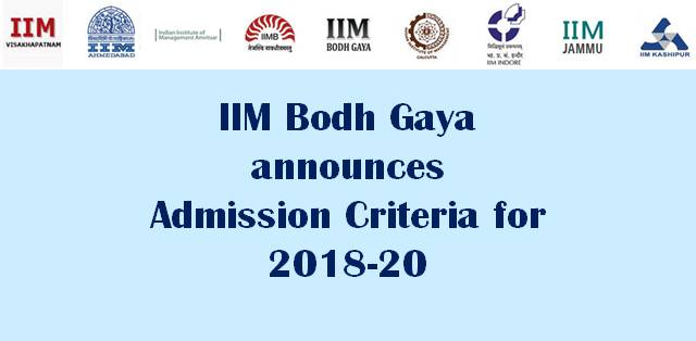IIM BODH GAYA ADMISSION POLICY