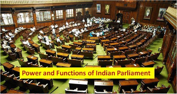 Power and Functions of Indian Parliament