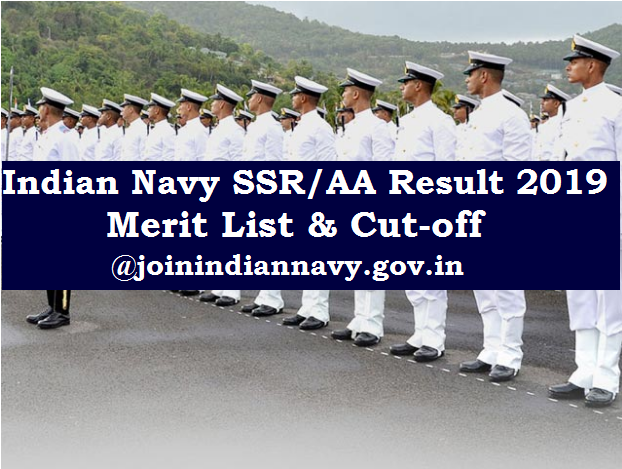 Indian Navy SSR, AA Result 2019
