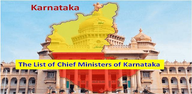 The List of Chief Ministers of Karnataka